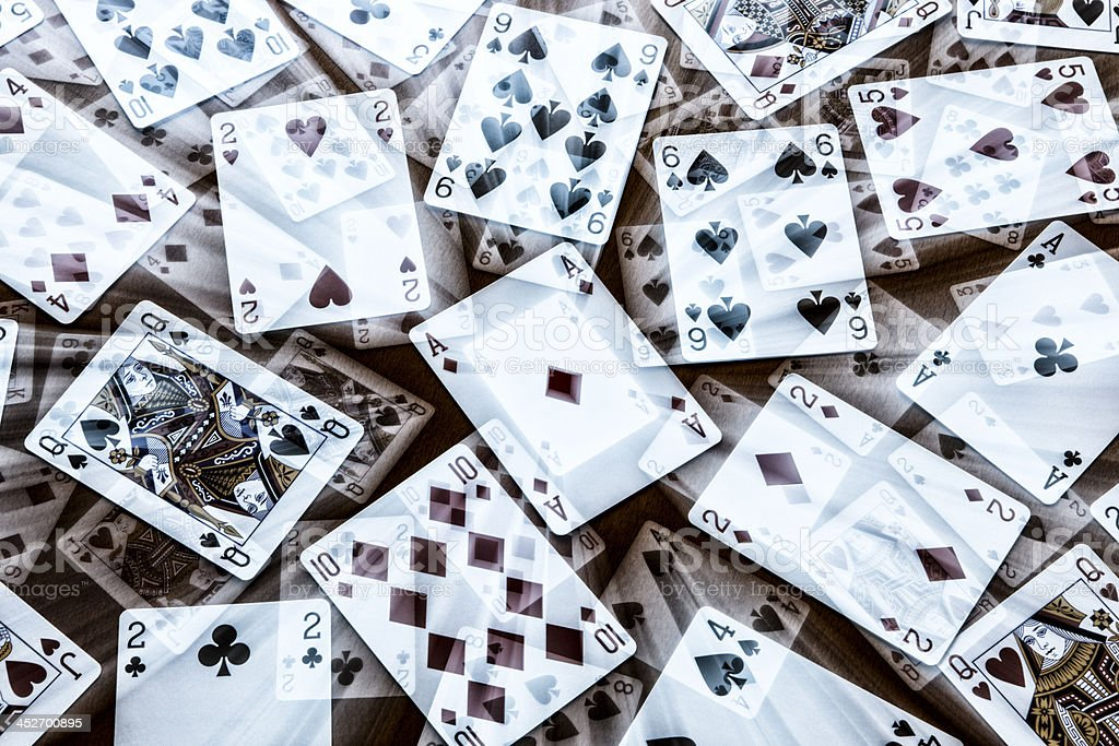 Abstract Playing Cards stock photo