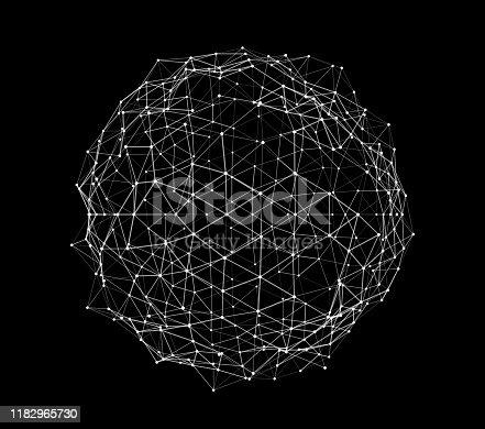 Abstract plexus sphere surface