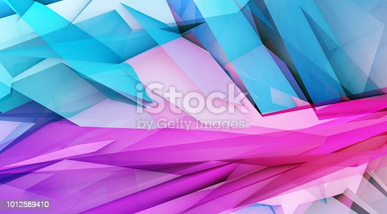 istock Abstract Polygon Background 1012589410