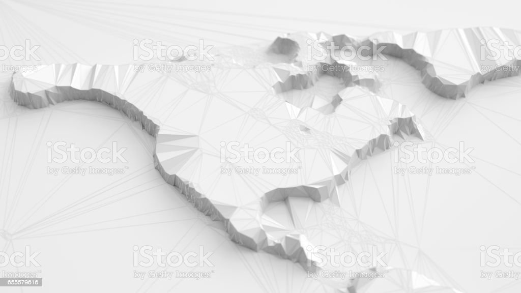 Abstract Polygonal 3d North America Map stock photo