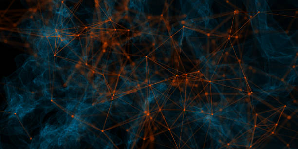 abstrakte polygonal hintergrund - synapse stock-fotos und bilder