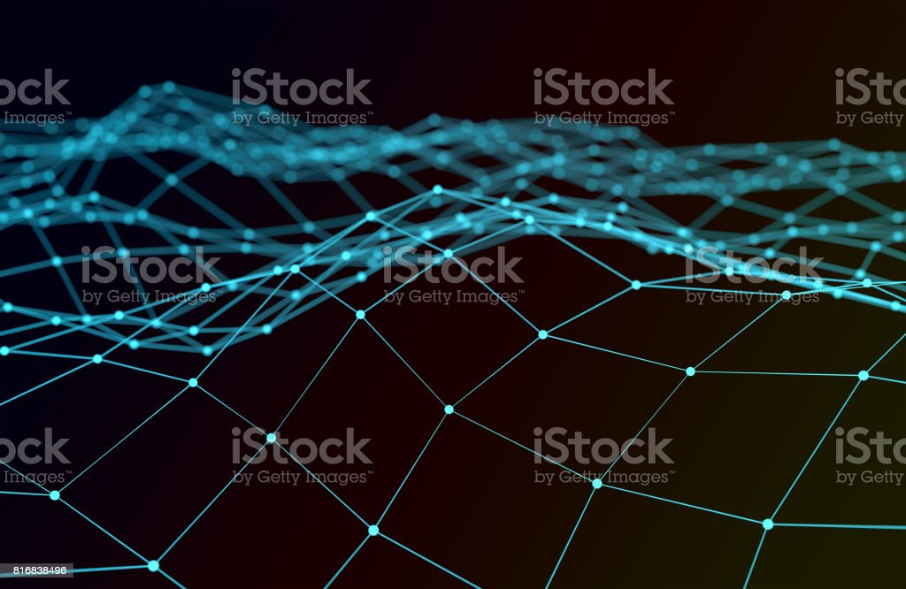 Abstract polygonal background stock photo