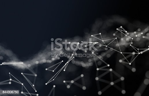istock Abstract polygonal background 844306750