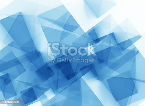 istock Abstract polygonal blue background 1136666991