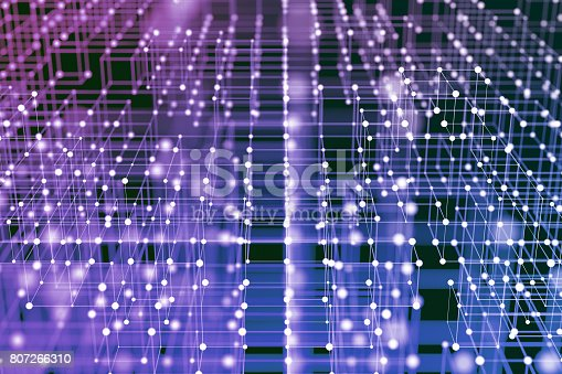 846266794 istock photo Abstract polygonal lights background 807266310
