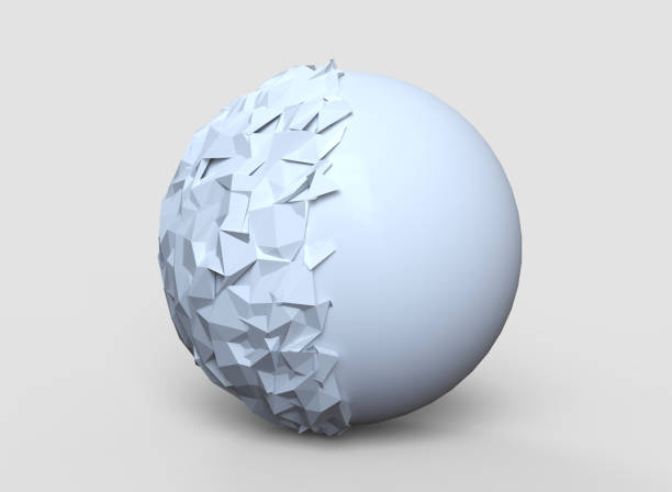 Abstract polygonal sphere background stock photo