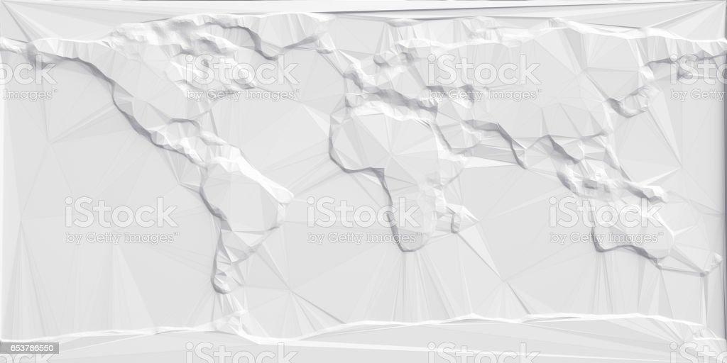 Abstract Polygonal World Map - foto stock