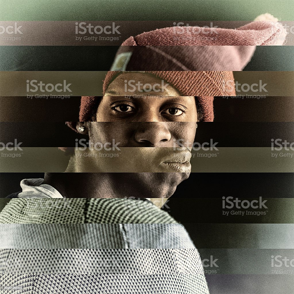 Abstract portrait stock photo