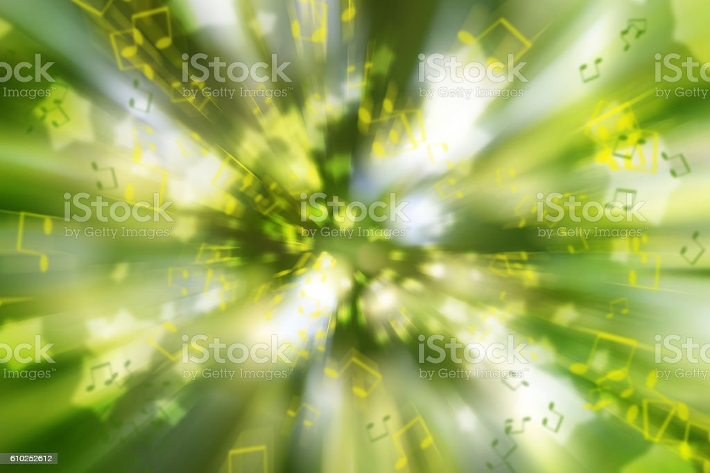 Abstract positive background with music notes. Colors of life. stock photo