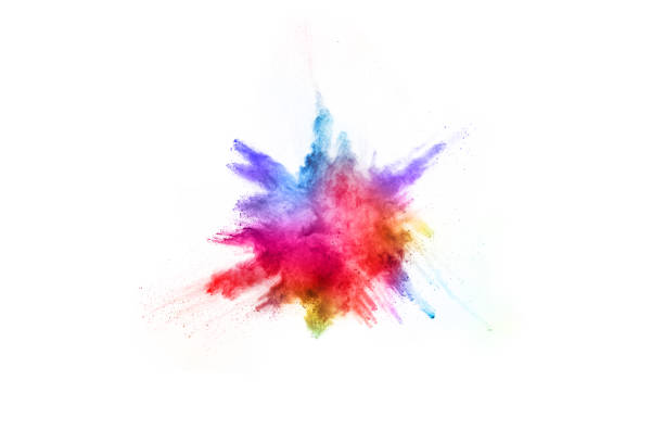 abstract powder splatted background. Colorful powder explosion on white background. Colored cloud. Colorful dust explode. Paint Holi. abstract powder splatted background. Colorful powder explosion on white background. Colored cloud. Colorful dust explode. Paint Holi. explosive stock pictures, royalty-free photos & images