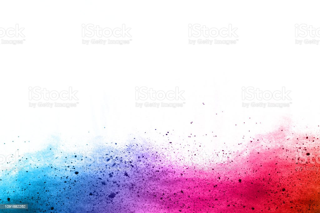 abstract powder splatted background. Colorful powder explosion on...