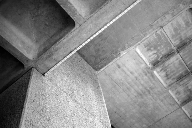 abstrakt architektur betonbau platten vorgefertigt - betonbau stock-fotos und bilder