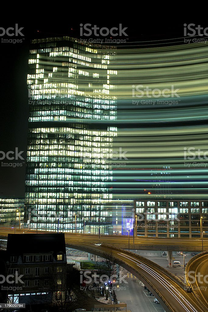 Abstract Prime Tower At Night royalty-free stock photo