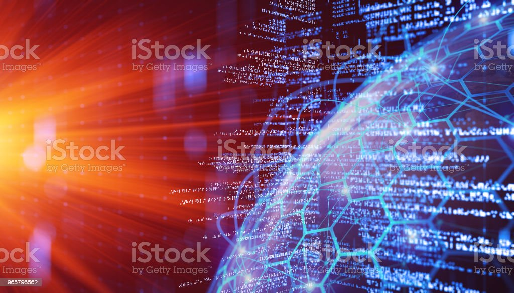 Abstract program and code - Royalty-free Analyzing Stock Photo