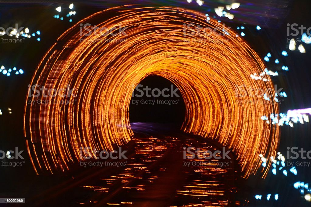 Abstract psychedelic train track stock photo