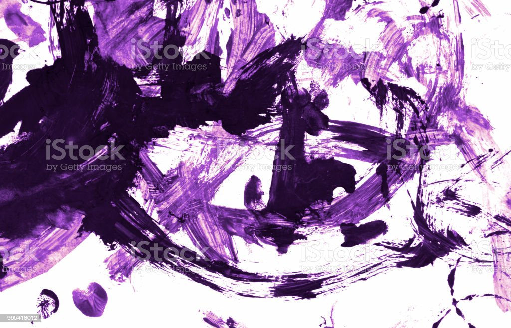 Abstract purple acrylic hand painted background. Fashion and beauty. Isolated on white background. Close up. royalty-free stock photo