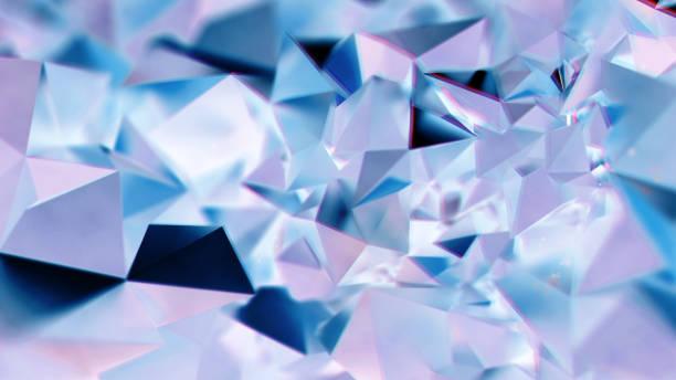 abstrakt lila och blå kristall trekantiga bg - kristall bildbanksfoton och bilder