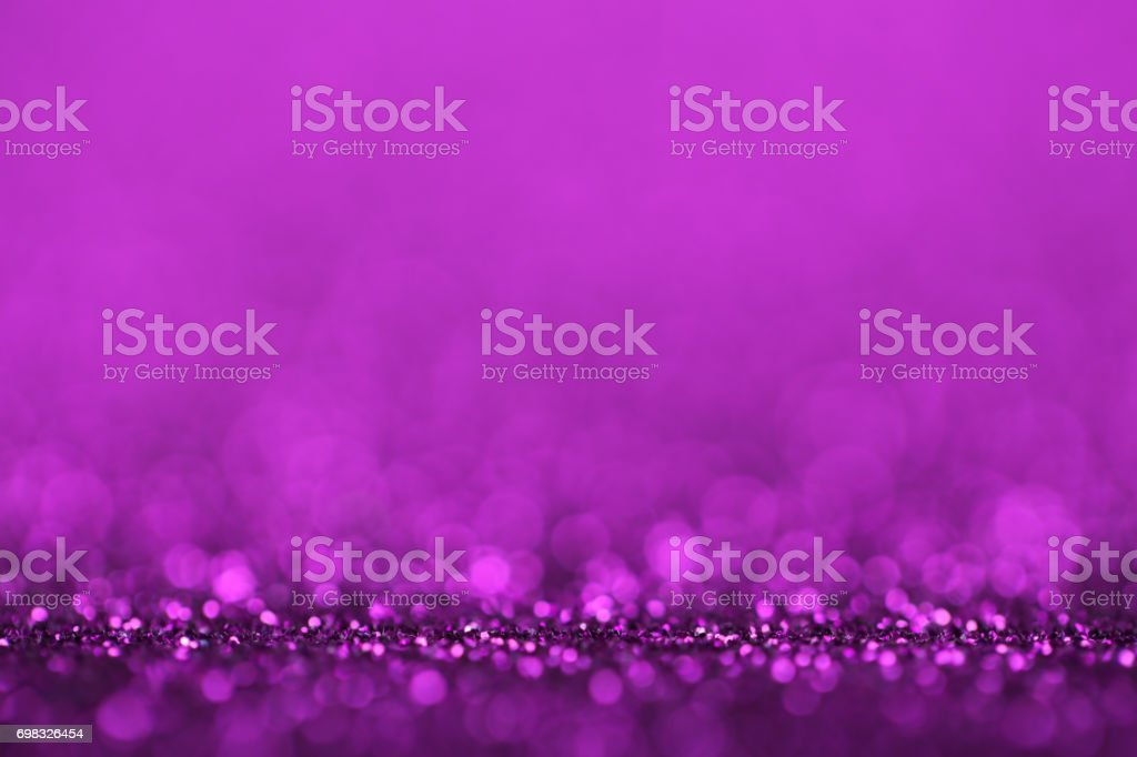 Abstract Purple Defocused Lights Background stock photo