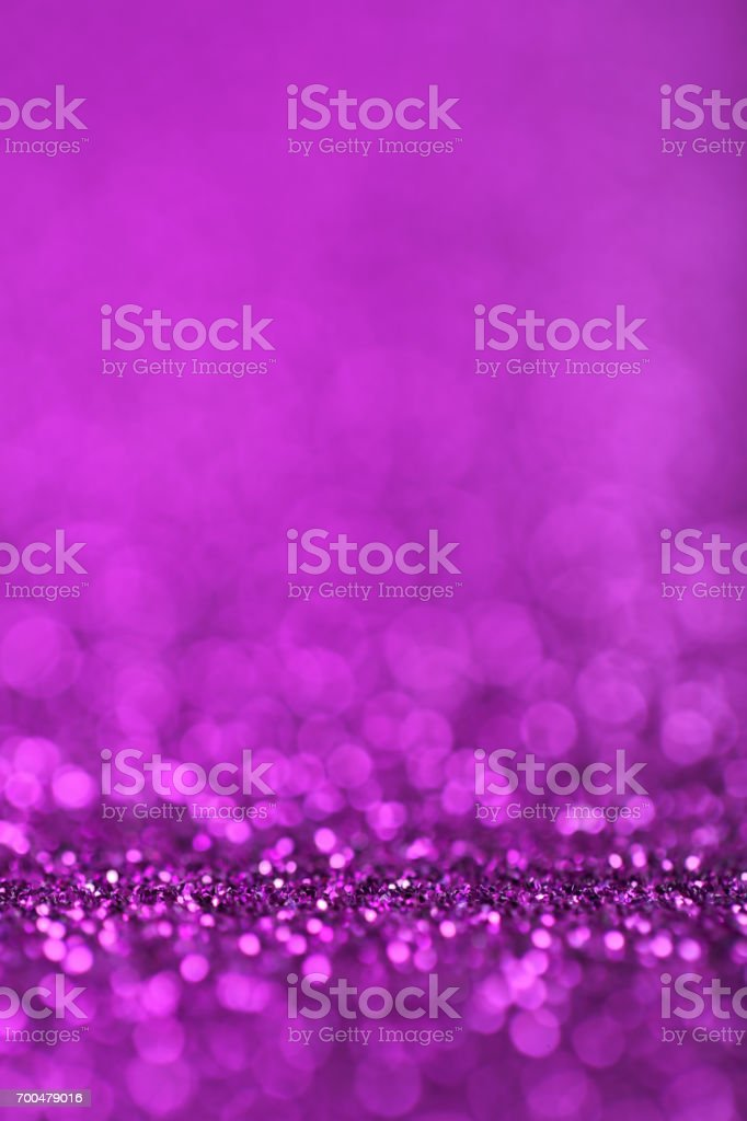 Abstract Purple Defocused Lights Background stock photo