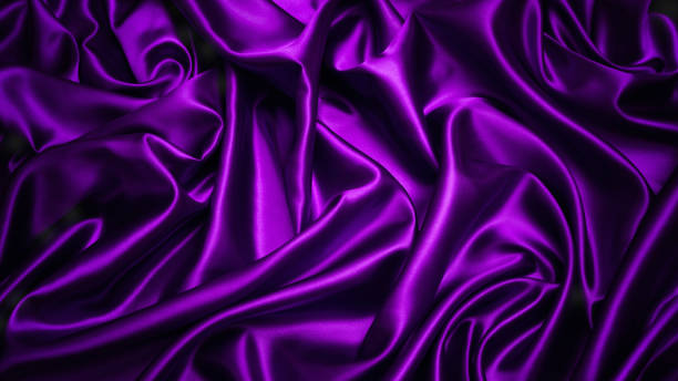 abstrakt lila vorhang tuch, dunkel violetten stoff hintergrund - modedetails stock-fotos und bilder