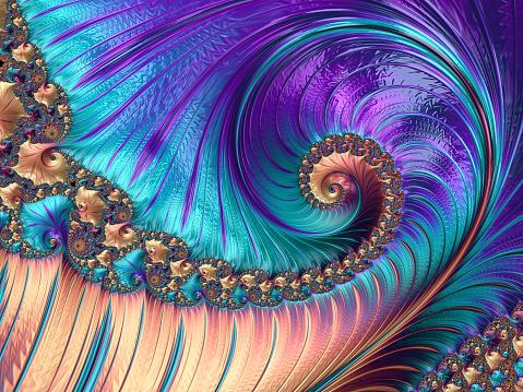 istock Abstract purple luxury fractal background 515083998