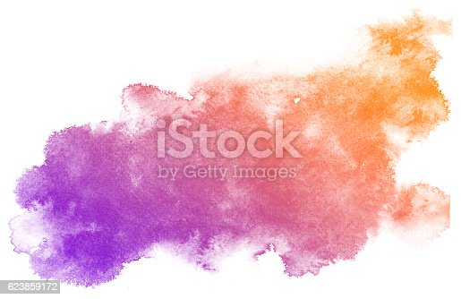 istock Abstract purple watercolor background. 623859172