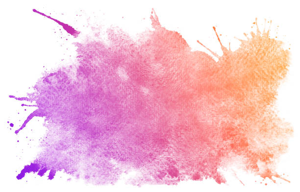 abstract purple watercolor background. - purple watercolor stock pictures, royalty-free photos & images