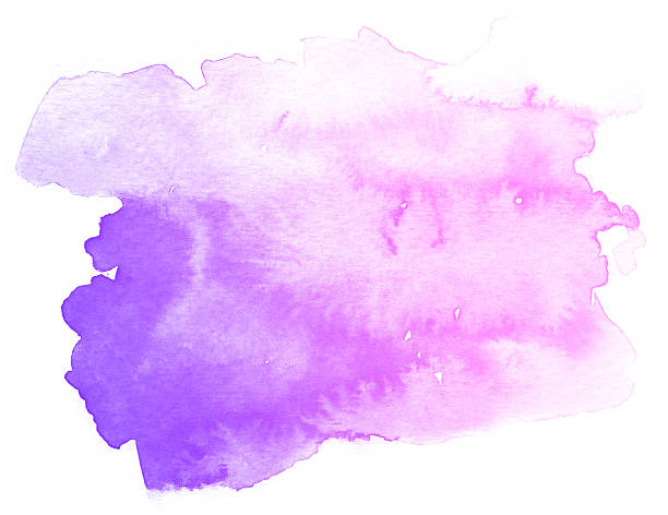 abstract purple watercolor on white background. - purple watercolor stock pictures, royalty-free photos & images