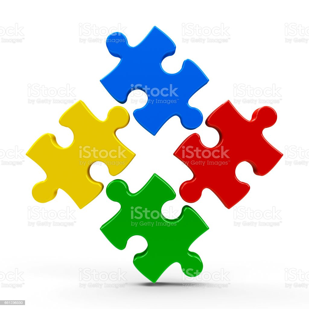 Abstract puzzle icon #3 stock photo