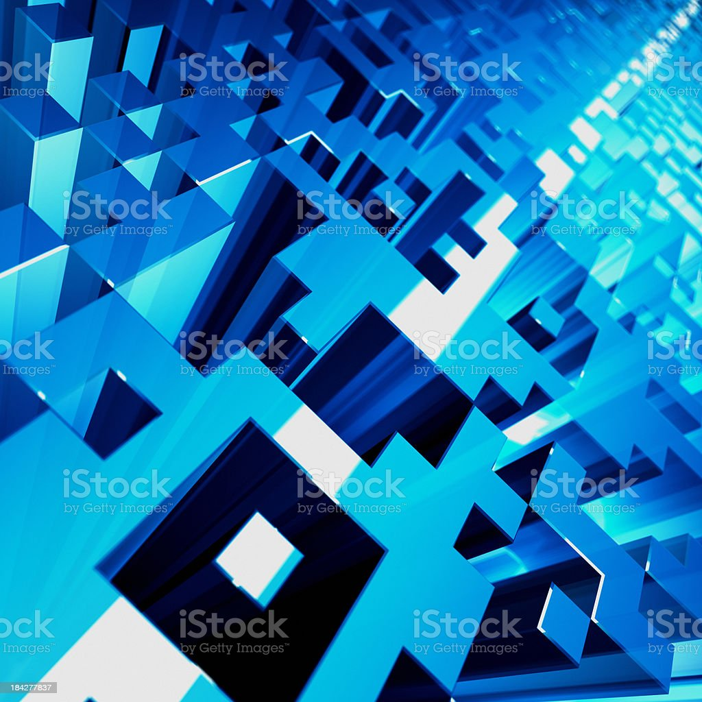 Abstract QR Code Barcode Background royalty-free stock photo
