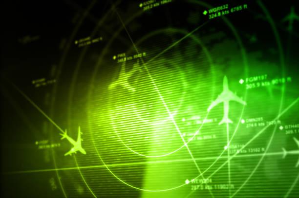 abstract radar - radar foto e immagini stock
