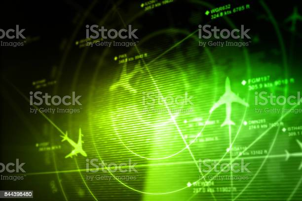 Abstract Radar Stock Photo - Download Image Now