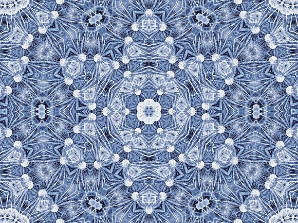 kreisförmigen abstrakte muster des natürlichen große löwenzahn blume - dekoration rund um den fernseher stock-fotos und bilder