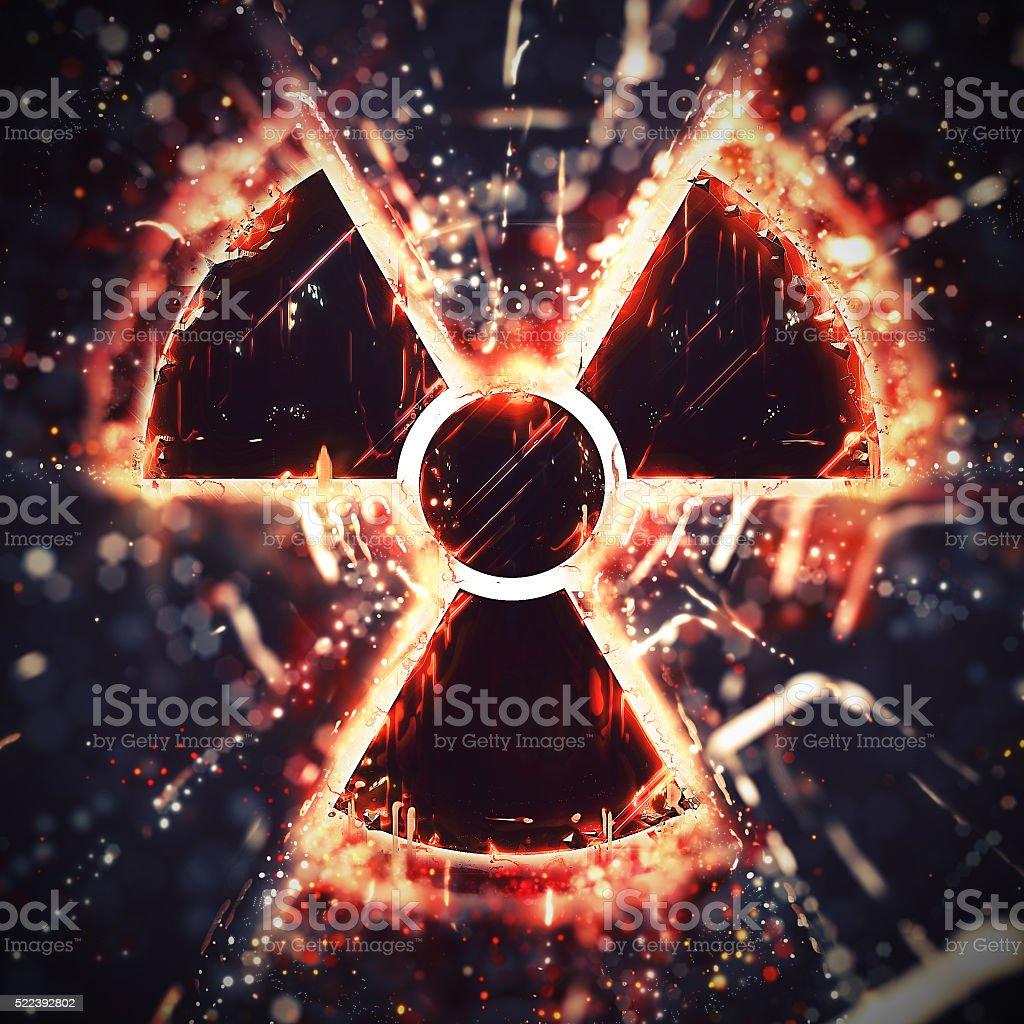 Abstract radiation hazard sign stock photo