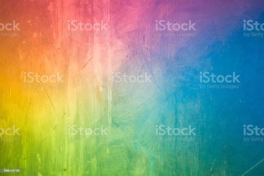 abstract rainbow colored painting background stock photo