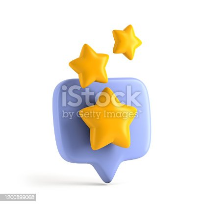 istock Abstract rating star like positive feedback 1200899068
