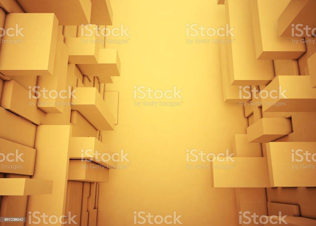 Résumé de forme rectangulaire boîte plusieurs dimensions assimilent belle - Photo