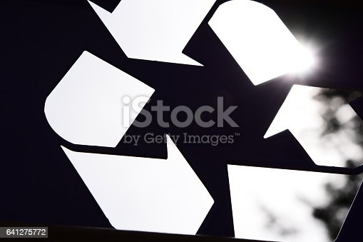 499093370 istock photo Abstract recycling symbol 641275772