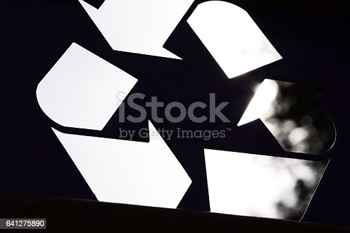 499093370 istock photo Abstract recycling symbol 641275890