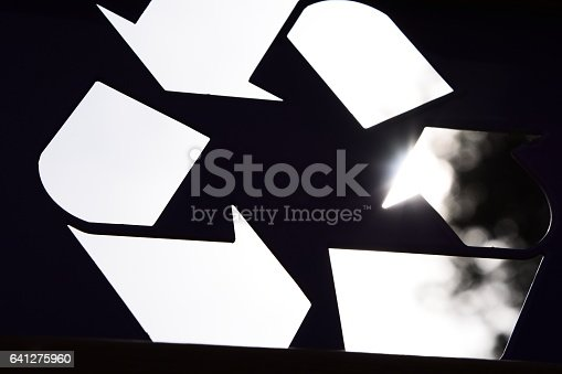 499093370 istock photo Abstract recycling symbol 641275960