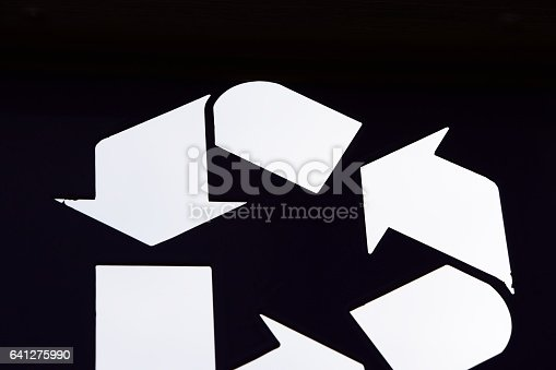 499093370 istock photo Abstract recycling symbol 641275990