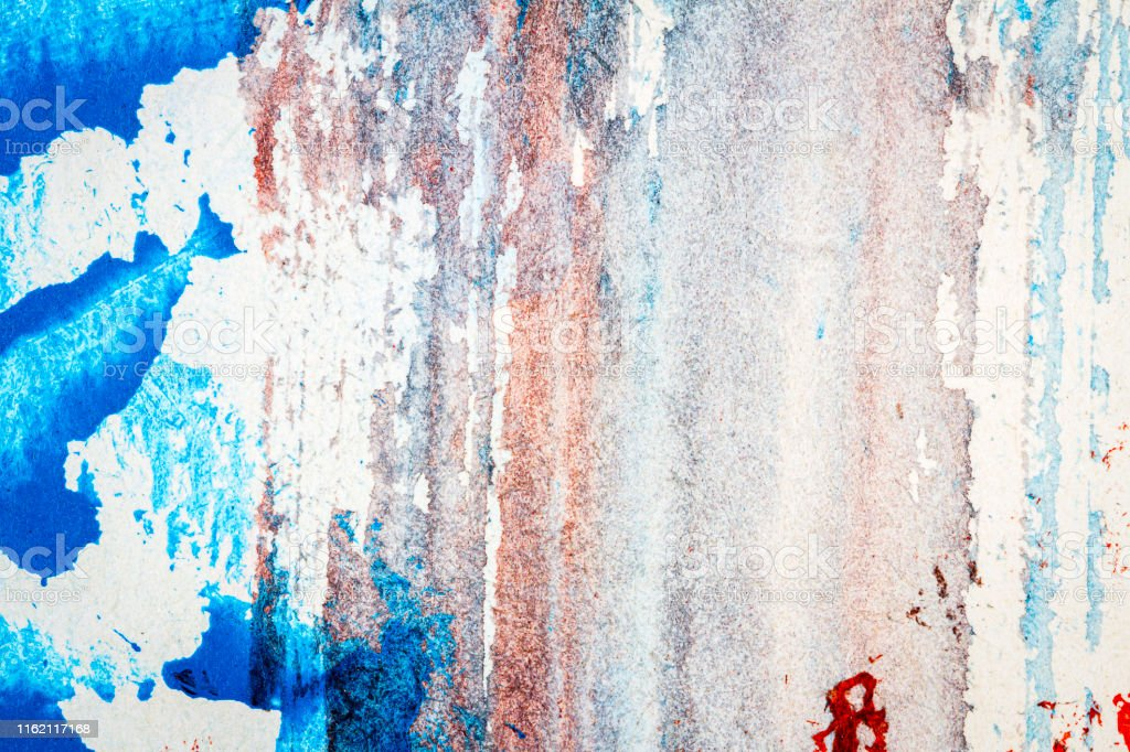 Abstract red and blue hand painted acrylic background, creative...