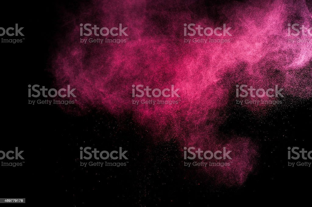 Abstract red and pink paint Holi. stock photo