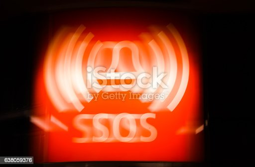 istock Abstract red and white SOS emergency sign symbol 638059376