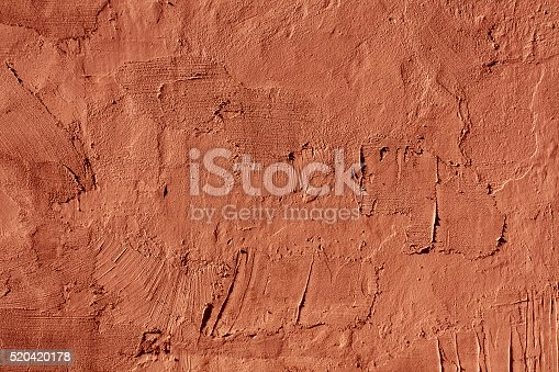 Abstract red cement wall texture. Architectural background and texture for design.