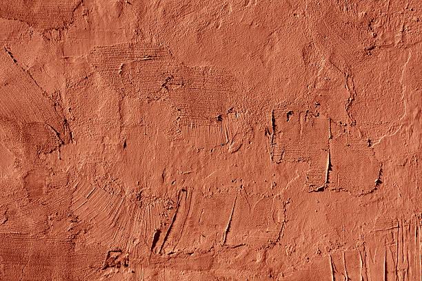 tło czerwone cementowe ściany tekstura. - glina zdjęcia i obrazy z banku zdjęć