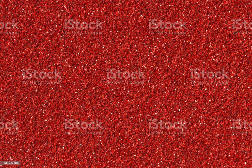 Abstract red Christmas glitter background stock photo