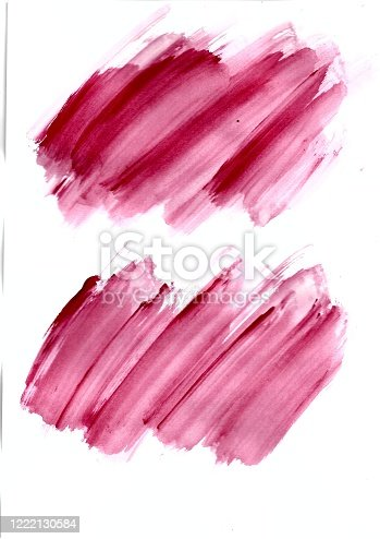 944453740 istock photo Abstract red colorful brush on white paper watercolor illustration painting background. 1222130584