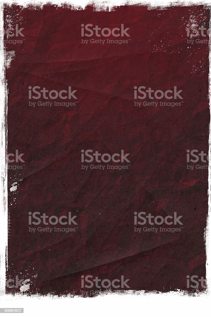 Abstract - Red crumpled paper background stock photo