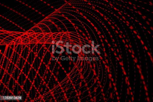Abstract red led light trail painting background